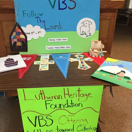 VBS Craft Table