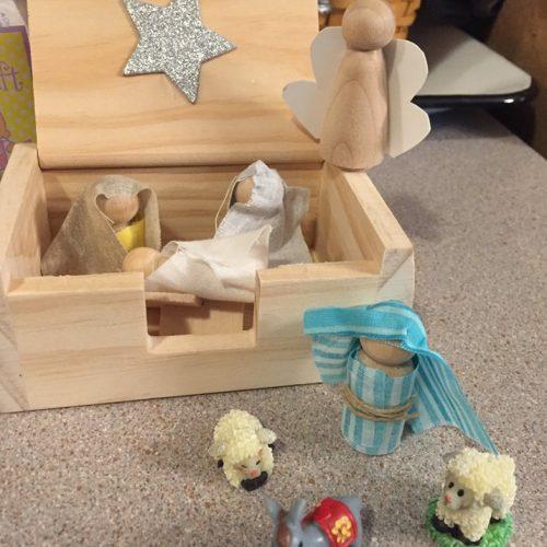 VBS nativity craft 2019